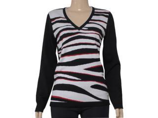 Blusão Feminino Zanatta 25035 Preto/branco/vermelho - Tamanho Médio