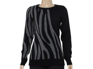 Blusão Feminino Zanatta 25041 Preto Zebra - Tamanho Médio