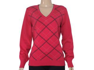Blusão Feminino Zanatta 25022 Xadrez Vermelho - Tamanho Médio