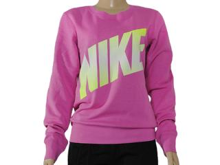 Blusão Feminino Nike 586171-506 Club Crew-graphic Rosa - Tamanho Médio