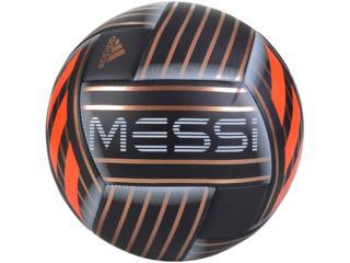 Bola Masculina Adidas Cf1279 Messi q1 Preto/dourado/laranja - Tamanho Médio