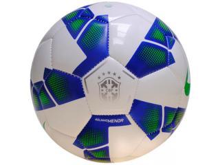 Bola Unisex Nike Sc2586-143  Menor Cbf  Branco/azul/limão - Tamanho Médio