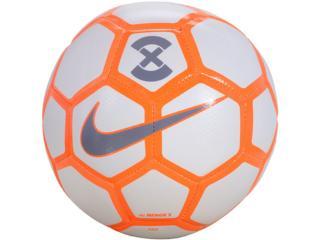 Bola Unisex Nike Sc3039-101 Menor x Football Branco/laranha/cinza - Tamanho Médio