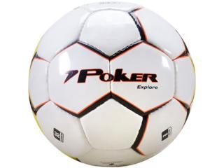 Bola Unisex Poker 05768 Branco/preto/amarelo/laranja - Tamanho Médio