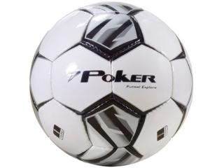 Bola Unisex Poker 05769 Explore Branco/preto/chumbo - Tamanho Médio