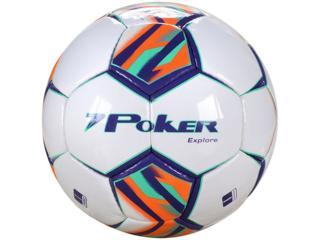 Bola Unisex Poker 05768 Branco/roxo/laranja/verde - Tamanho Médio