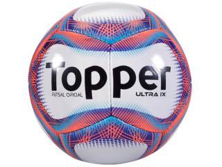 Bola Masculina Topper 4200015 111 Ultra ix Fsal Branco/vermelho/azul - Tamanho Médio