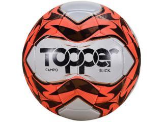Bola Unisex Topper 32230019127 Cpo Slick Cost Branco/laranja/preto - Tamanho Médio