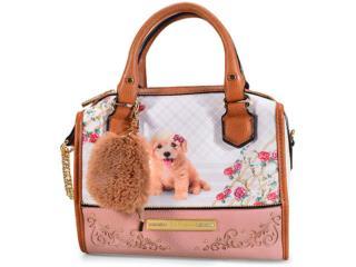 cffadbb62 Bolsa Feminina Rafitthy 31.82150 Poodle Flowers Blush/new Malte/creme
