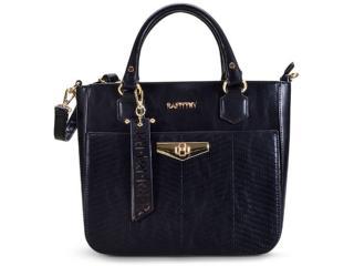 Bolsa Feminina Rafitthy 22.82156 Preto/pewter - Tamanho Médio