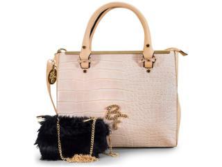 Bolsa Feminina Rafitthy 32.82125 be Forever Capri/preto - Tamanho Médio
