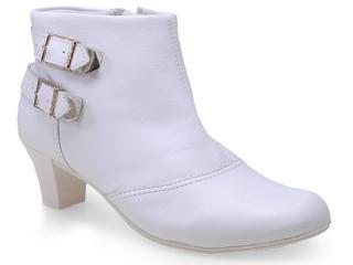 Bota Feminina Comfortflex 14-99302 Branco - Tamanho Médio