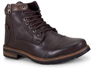 Bota Masculina Ped Shoes 5030-b Café/tabaco - Tamanho Médio