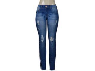 Calça Feminina Kacolako 27805 Jeans Estonado - Tamanho Médio