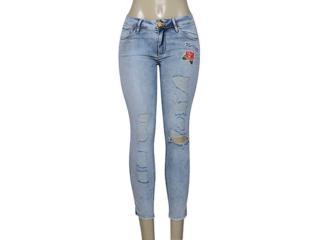 Calça Feminina Lado Avesso 100109b Jeans - Tamanho Médio