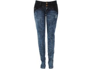 Calça Feminina Moikana 9801 Jeans - Tamanho Médio