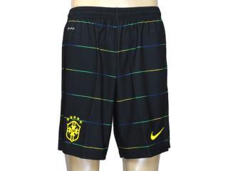 Calçao Masculino Nike 577859-337 Cbf 3rd  Stadium Short Musgo - Tamanho Médio