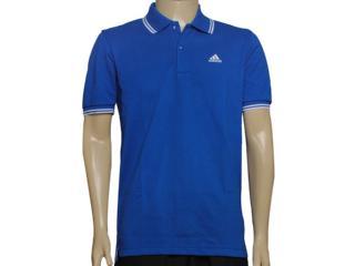 Camisa Masculina Adidas G70244 Polo Ess Azul - Tamanho Médio
