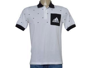 Camisa Masculina Adidas Bq9592 Ess Pocket po Branco/preto - Tamanho Médio
