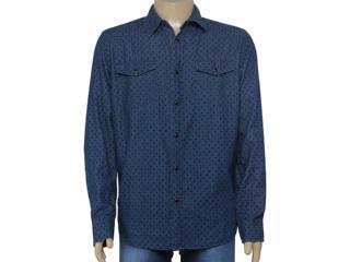 Camisa Masculina Cavalera Clothing 02.01.1238 Cor Jeans - Tamanho Médio
