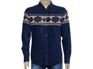 Camisa Masculina Cavalera Clothing 02.01.1279 Marinho - Tamanho Médio