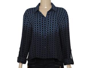 Camisa Feminina Cavalera Clothing 09.05.0375 Preto/roxo - Tamanho Médio
