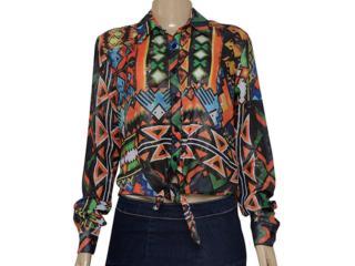 Camisa Feminina Cavalera Clothing 09.05.0408 Estampada - Tamanho Médio