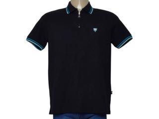 Camisa Masculina Cavalera Clothing 03.01.0645 Preto/azul/verde - Tamanho Médio