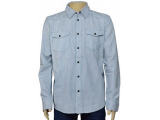 Camisa Masculina Cavalera Clothing 02.01.1237 Azul Listrado - Tamanho Médio