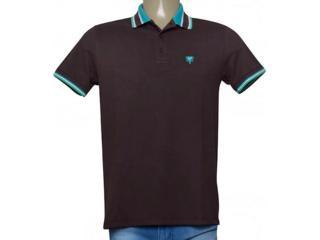 Camisa Masculina Cavalera Clothing 03.01.3824 Chocolate/verde - Tamanho Médio