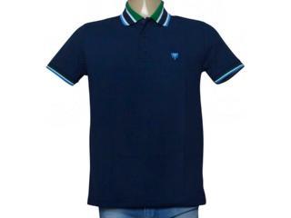 Camisa Masculina Cavalera Clothing 03.01.3824 Azul/verde - Tamanho Médio