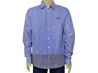 Camisa Masculina Coca-cola Clothing 313200382 Xadrez Azul - Tamanho Médio