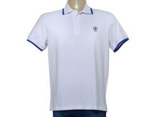 Camisa Masculina Coca-cola Clothing 253200919 Var1 Branco/azul - Tamanho Médio