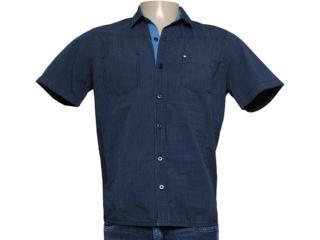 Camisa Masculina dj 01021463 Listrado Marinho - Tamanho Médio