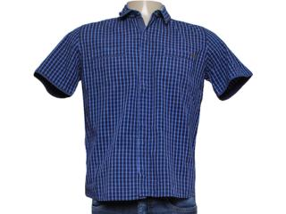 Camisa Masculina dj 01021722 Xadrez Azul - Tamanho Médio