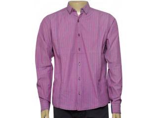 Camisa Masculina dj 01011596 Listrado Rosa - Tamanho Médio