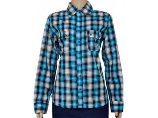 Camisa Feminina Dona Florinda 37143 Azul - Tamanho Médio