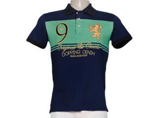 Camisa Masculina Dopping 015453510 Marinho/verde - Tamanho Médio