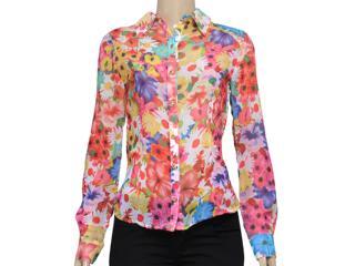 Camisa Feminina Dopping 011902503 Floral - Tamanho Médio