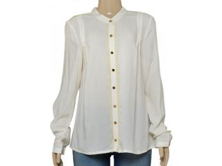 Camisa Feminina Dopping 011964031 Off White - Tamanho Médio