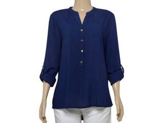 Camisa Feminina Dopping 011964035 Marinho - Tamanho Médio