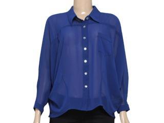 Camisa Feminina Index 07.01.000057 Azul - Tamanho Médio