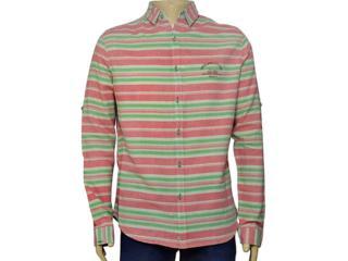 Camisa Masculina Index 07.01.000043 Salmão/verde - Tamanho Médio