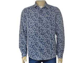 Camisa Masculina Index 07.01.000319 Marinho Floral - Tamanho Médio