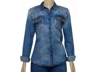 Camisa Feminina Index 07.01.000388 Jeans - Tamanho Médio