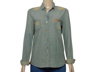 Camisa Feminina Index 07.01.000385 Jeans Esverdeado - Tamanho Médio