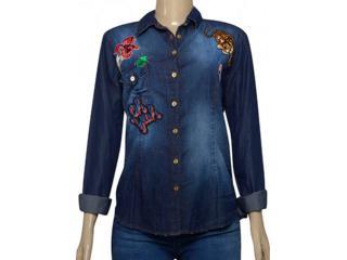 Camisa Feminina Index 07.01.000399 Jeans - Tamanho Médio