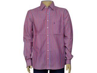 Camisa Masculina Individual 302.25837.001 Listrado Vermelho/azul - Tamanho Médio