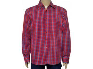 Camisa Masculina Individual 302.403.740 Xadrez Vermelho - Tamanho Médio