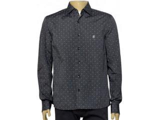 Camisa Masculina Individual 302.11021.001 Listrado Preto/branco - Tamanho Médio